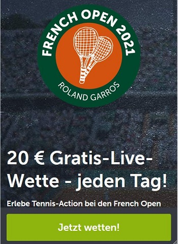 ComeOn French Open Gratiswetten