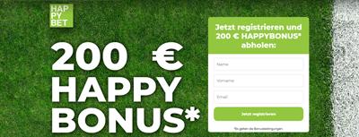Happybet EM Bonus für Neukunden