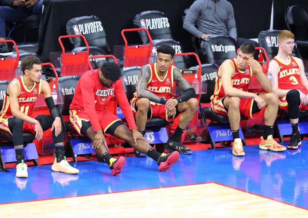 Gibt es auch nach Spiel 4 der Hawks gegen die 76ers wieder eine bedrückte Bank bei Atlanta?