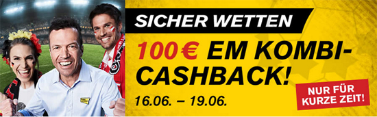 Interwetten EM Kombi Wetten Cash Back