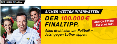 Interwetten EM Final-Tipp & 100.000€ gewinnen