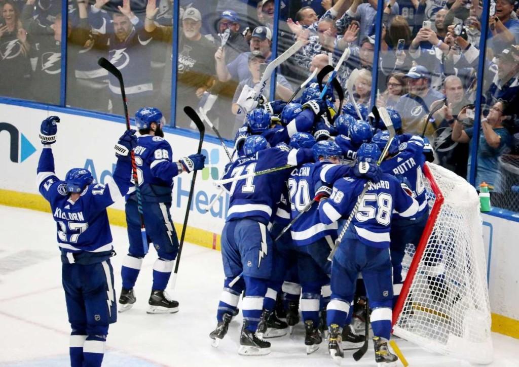 Haben die Lightning auch in Spiel 1 der Finalserie gegen die Canadiens wieder allen Grund zur Freude?