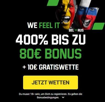 Unibet EM 2021 Bonus