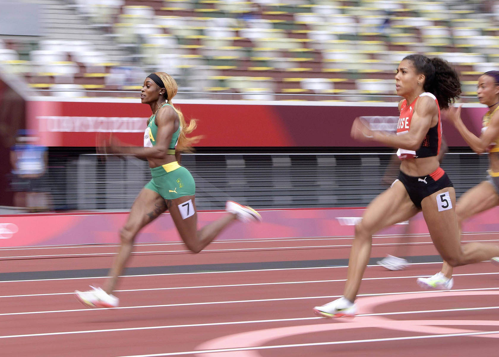 100m Finale Damen Thompson