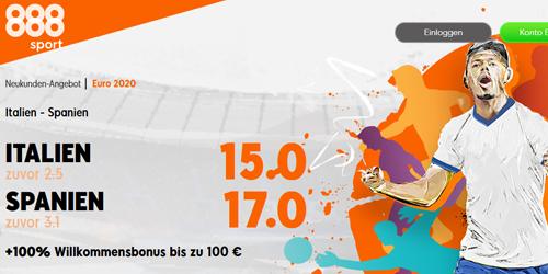 888sport Italien - Spanien Wetten Boost