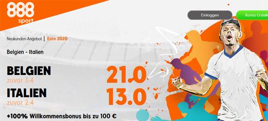 888sport Belgien - Italien Wetten Boost