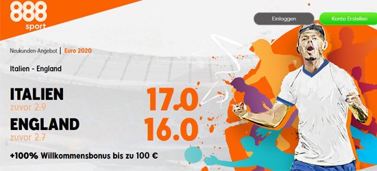 888sport EM Finale wetten Quoten Boost