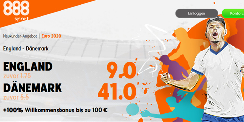888sport England - Dänemark Quoten Boost