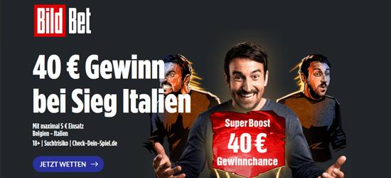 Bildbet Belgien - Italien Wetten Boost