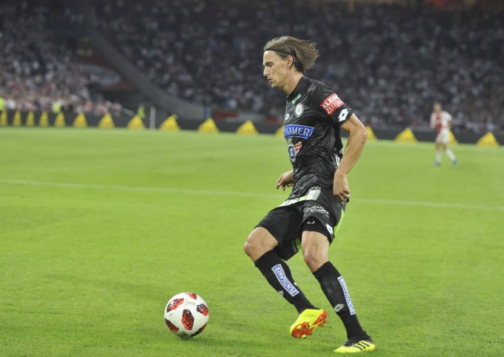 Stefan Hierländer will mit Sturm Graz gegen Austria Klagenfurt Platz zwei behaupten.