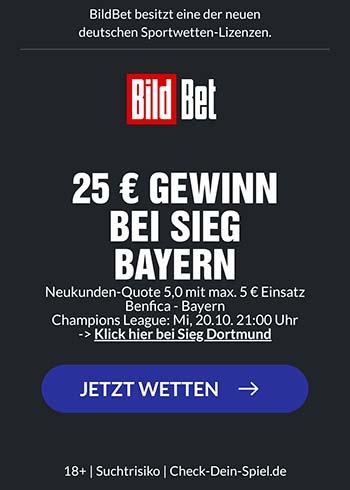 Bildbet erhöhte Quote Bayern
