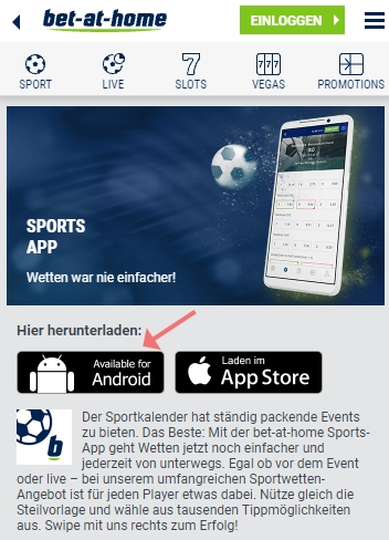 Bet at home App